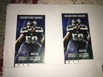 Seattle Seahawks Vs Colts tickets October 1 2017 in Tacoma, Washington