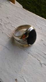 Sterling Mans 9-9.5 Onyx Ring in Camp Lejeune, North Carolina