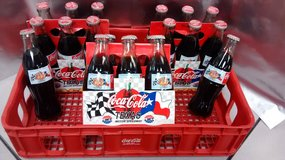 1997 COCA COLA 300 TEXAS MOTOR SPEEDWAY INAUGURAL RACE 8 OZ COCA COLA BOTTLE 6-PACKS with PLASTI... in Palatine, Illinois