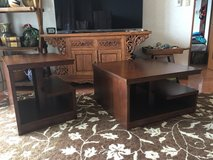 Solid wood coffee and end table in Okinawa, Japan