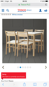 Table four chairs in Lakenheath, UK