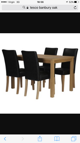 Table and chairs in Lakenheath, UK