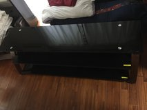 """Tv stand, dark glass and wood up to 80""""inch in Okinawa, Japan"""