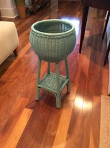 Wicker Plant Stand in Beaufort, South Carolina