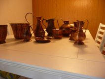 Copper vases, flower pots and candle holders in Ramstein, Germany