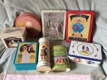 old vintage tin cans from France in Ramstein, Germany
