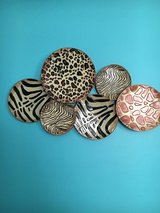 Animal Print Plate Wall Hanging in Great Lakes, Illinois