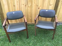 2 Green Pleather and wood chairs in Wilmington, North Carolina