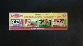 Melissa & Doug Farm Animals in a box wooden puzzles in Yorkville, Illinois