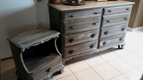 Hard Maple Dresser and Night Stand in Baytown, Texas