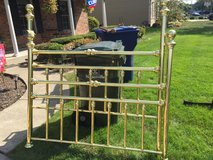 Queen Brass Bed with Frame in St. Charles, Illinois