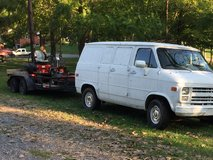 Mowers trailer and van in Clarksville, Tennessee