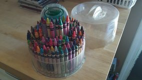 "Multiple Arts & Crafts/school supplies/""Crayola"" crayon carousel w/sharpener & Lid in Chicago, Illinois"