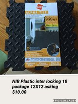 NIB plastic inter locking squares in New Lenox, Illinois