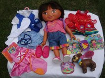 "Used 15"" Dora The Explorer Doll, Clothes, and Accessories in Oswego, Illinois"