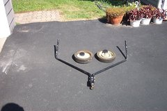 TRAILER HITCH AND WHEELS FROM A LEAF RAKE in Naperville, Illinois