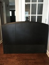 Headboard - brown leather & frame & box spring full/queen in Westmont, Illinois