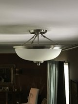 Brushed Nickel ceiling light with frosted glass (4) in Westmont, Illinois