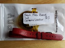 Fitbit Alta red leather band in Fort Campbell, Kentucky