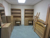 boy's room complete furniture set - 2 bunk beds, tall dresser, short dresser with mirror, two de... in Goldsboro, North Carolina