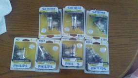 headlight bulbs (22 assorted sizes) and oil filters (13 assorted sizes)and 5 qts. of oil. in Beaufort, South Carolina