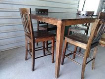 Height top dining table set with 4 chairs in Fort Bliss, Texas
