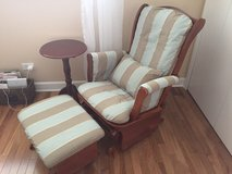 Rocking Chair with ottoman and side table in Westmont, Illinois