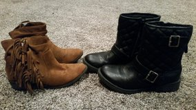 Girls size 3 boots- 2 pair in Fort Leonard Wood, Missouri