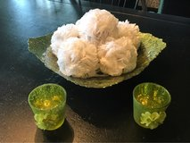 Green Glass Bowl and matching candle votive holders in Westmont, Illinois
