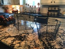 2 Large Black Wire Baskets in Westmont, Illinois
