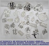 "SILVER ""KANJI"" JEWELRY FOR THE HOLIDAYS in Okinawa, Japan"