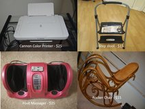 Rocker Chair, Foot Massager, Printer, Step Stool in Westmont, Illinois