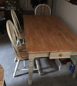 Solid Oak Table and 6 Chairs in Fort Carson, Colorado