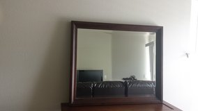 Wood framed mirror in Fort Lewis, Washington