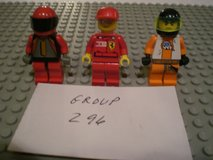 3 Lego Racers Minifigs Group 296 in Yorkville, Illinois