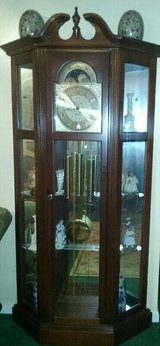 Grandfather clock w/curio in Sanford, North Carolina