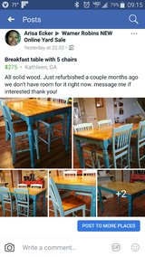 high top breakfast table and 5 chairs in Byron, Georgia