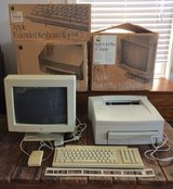 Lot vintage Apple MacIntosh printer display keyboard in Beaufort, South Carolina