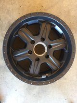 "17"" black aluminum rims (4) 6lug in Hemet, California"