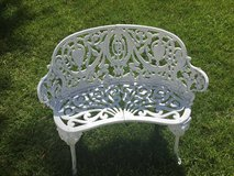 Antique Ornate Cast Iron Bench in Beaufort, South Carolina