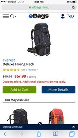 Everest deluxe hiking/hunting backpack. in Fort Campbell, Kentucky