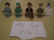 5 Lego Indiana Jones Minifigs Group 116 in Sandwich, Illinois