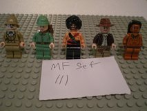 5 Lego Indiana Jones Minifigs Group 111 in Sandwich, Illinois