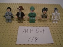 5 Lego Indiana Jones Minifigs Group 118 in Sandwich, Illinois