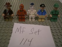 5 Lego Indiana Jones Minifigs Group 114 in Sandwich, Illinois