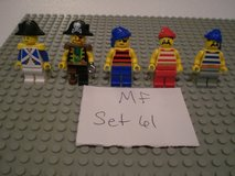 5 Lego Pirates Minifigs Group 61 in Sandwich, Illinois