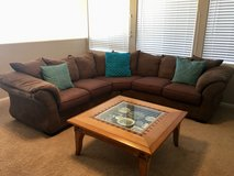 Sectional and coffee table in Nellis AFB, Nevada
