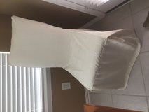Creme chair cover in Conroe, Texas