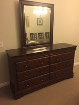 cherry dresser with mirror in Temecula, California
