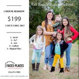 Faces-Places-Photography Fall Family Portrait Special. Includes prints and image files. in Converse, Texas